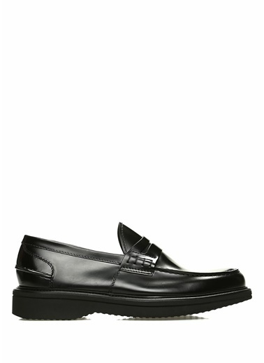 Green George Deri Loafer Ayakkabı Siyah